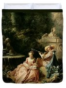 The Music Lesson Duvet Cover by Francois Boucher
