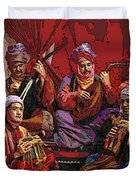 The Musicians Of Hajji Baba Duvet Cover by Eikoni Images