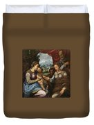 The Mystic Marriage Of Saint Catherine Duvet Cover