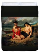 The Natchez Duvet Cover by Ferdinand Victor Eugene Delacroix