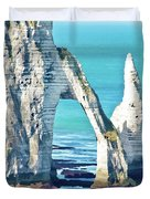 The Needle Of Etretat Duvet Cover