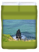 The Needle Off The Cliff's Of Moher In Ireland Duvet Cover