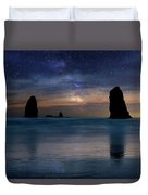 The Needles Rocks Under Starry Night Sky Duvet Cover