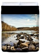 The New River At Whitt Riverbend Park - Giles County Virginia Duvet Cover