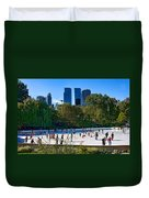 The New York Central Park Ice Rink  Duvet Cover