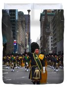 The New York City Police Emerald Society Pipe And Drum Corps Duvet Cover