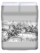 The Newport Pagnel Steeple Chase Duvet Cover