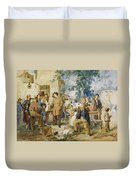 The News Of Villafranca Duvet Cover