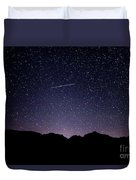 The Night Landscape View And The Stars At Tuttle Creek, Lone Pin Duvet Cover