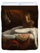 The Nightmare Duvet Cover by Henry Fuseli