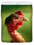 The Noble Transylvanian Naked Neck Chicken In Profile Duvet Cover