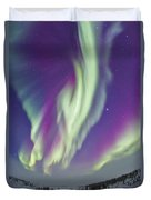 The Northern Lights In Churchill Duvet Cover