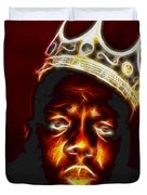 The Notorious B.i.g. - Biggie Smalls Duvet Cover by Paul Ward