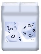 The Numbers Game Duvet Cover