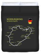 The Nurburgring Nordschleife Duvet Cover