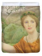 The Nymph Duvet Cover by Thomas Cooper Gotch