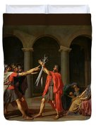 The Oath Of Horatii Duvet Cover by Jacques Louis David