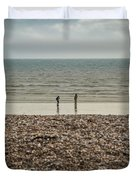 The Ocean Can Make You Feel Small, Bognor Regis, Uk. Duvet Cover