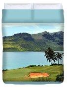 The Ocean Course At Hokuala In Kauai Duvet Cover