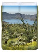The Ocotillo View Duvet Cover