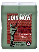 The Office Of Civilian Defense Needs You - Wpa Duvet Cover