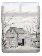 The Old Barn Inwinter Duvet Cover