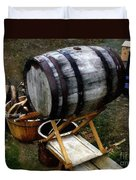 The Old Beer Barrel Duvet Cover