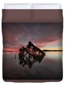 The Old Boat Skeleton Am Duvet Cover