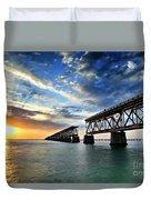 The Old Bridge Sunset - V2 Duvet Cover