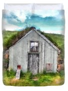 The Old Chicken Coop Iceland Turf Barn Duvet Cover