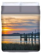 The Old Dock - Charleston Low Country Duvet Cover