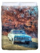 The Old Ford On The Side Of The Road Duvet Cover