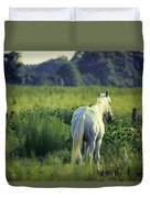 The Old Grey Mare Duvet Cover