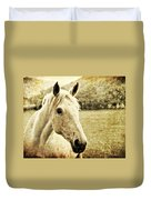 The Old Grey Mare Duvet Cover by Meirion Matthias