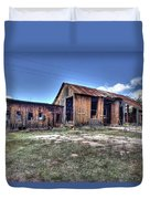 The Old Haunted Barn Duvet Cover