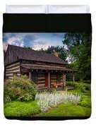 The Old Log Home  Duvet Cover