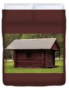 The Old Log Hut Duvet Cover