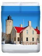 The Old Mackinac Point Lighthouse Duvet Cover