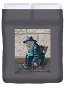 The Old Man Near The Western Wall Duvet Cover