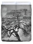 The Old Oak Tree Standing Alone  Duvet Cover