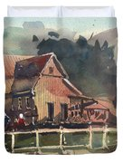 The Old Old House Duvet Cover