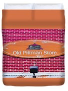 The Old Pittman Store Sign Duvet Cover