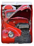 The Old Red Jalopy Duvet Cover