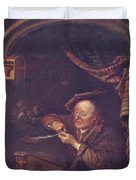 The Old Schoolmaster 1671 Duvet Cover