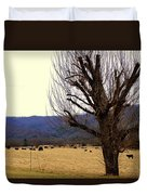 The Old Tree In Winter Duvet Cover