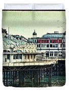 The Old Victorian West Pier Duvet Cover