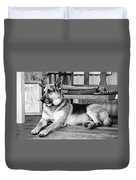 The Old Watch Dog Duvet Cover