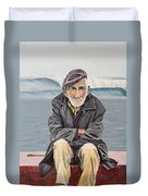 The Old Waterman Duvet Cover by Kevin Daly