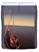 The Old Wooden Boat Duvet Cover