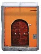 The Orange House Duvet Cover